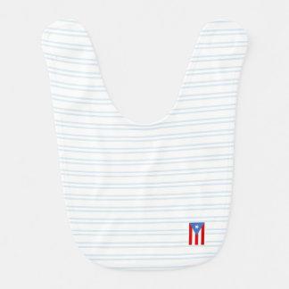 Blue: Puerto Rico Flag Bib