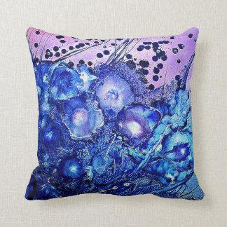 Blue PUR-polarizes Floral Cushion