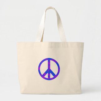 Blue/Purple Abstract Peace Symbol Bags