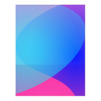 Blue Purple and Pink Minimalism Lake Postcard