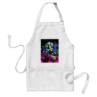 Blue Purple And White Floral Design Products Standard Apron