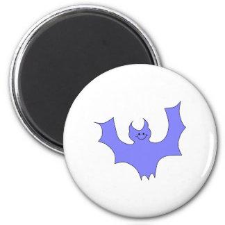 Blue - Purple Bat Cartoon. Magnet