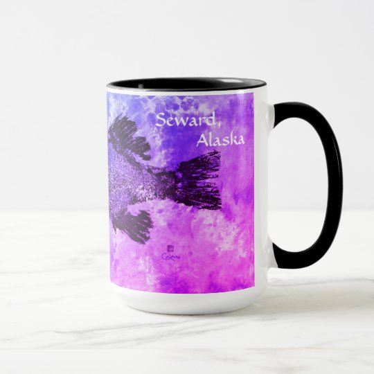 Blue & Purple Black Sea Bass, Seward, Alaska - Mug