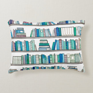 Blue & Purple Books Reversible Cushion