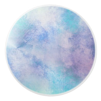 BLUE & PURPLE CLOUD DESIGN ON A CERAMIC KNOB