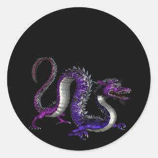 Blue Purple Dragon Design 2 :: Fantasy Stickers