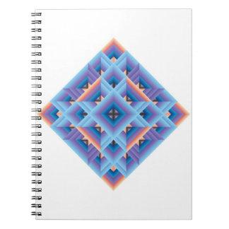 Blue, purple Geometric Quilt Diamond Note Books