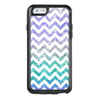 Blue Purple Glitter Sparkles Ombre White Chevron OtterBox iPhone 6/6s Case