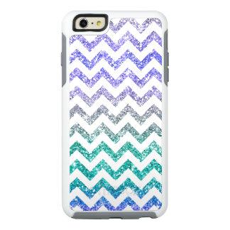 Blue Purple Glitter Sparkles Ombre White Chevron OtterBox iPhone 6/6s Plus Case