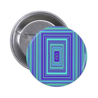 Blue Purple Green Rectangles Geometric Art 6 Cm Round Badge