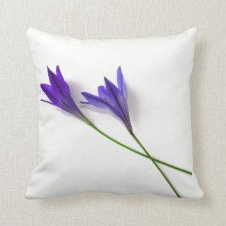 Blue Purple Lilies Cushion