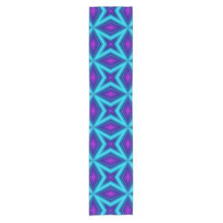 blue purple line short table runner