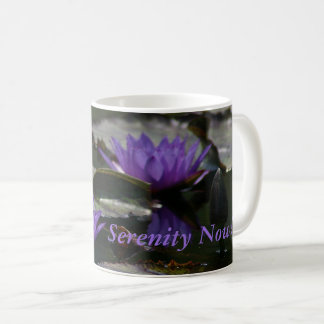 Blue Purple Lotus Waterlilies Coffee Mug