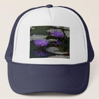 Blue Purple Lotus Waterlilies Hat