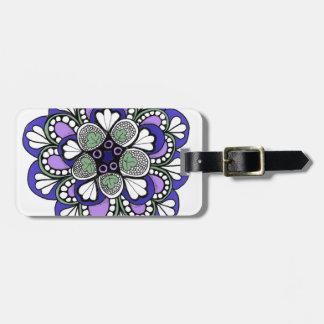 Blue Purple Mandala Bag Tag