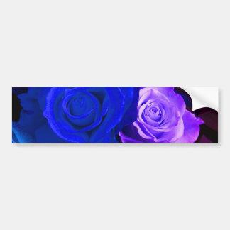 Blue Purple Rose Bumper Sticker - Customizable Car Bumper Sticker