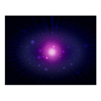 Blue Purple Space Galaxy Stars Abstract Postcard