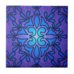 Blue Purple Stainded Glass Style Design Ceramic Tile