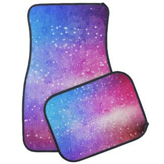 Blue purple starry galaxy sky car mat