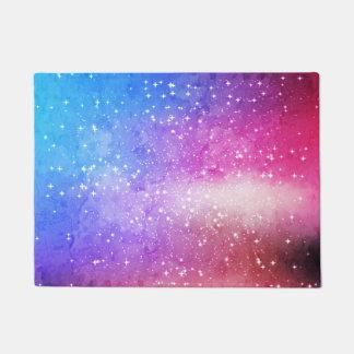 Blue purple starry galaxy sky doormat