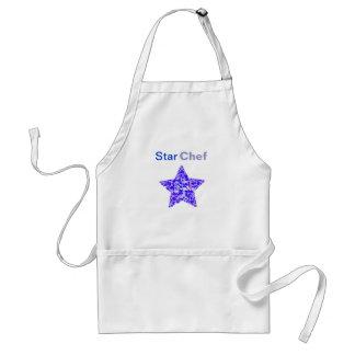 Blue & Purple Stars Confetti pattern Adult Apron