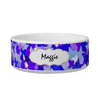 Blue & Purple Stars Confetti pattern Bowl