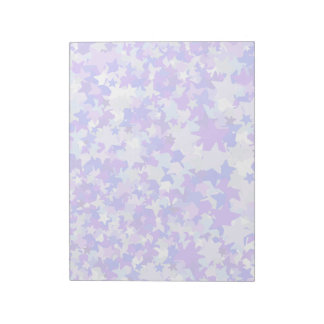 Blue & Purple Stars Confetti pattern Notepad