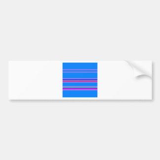 blue purple stripe bumper sticker