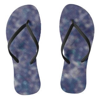 Blue Purple Trendy Unique Cool Chic Flip Flops