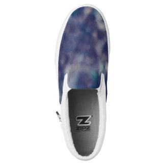 Blue Purple Trendy Unique Cool Chic Slip-On Shoes