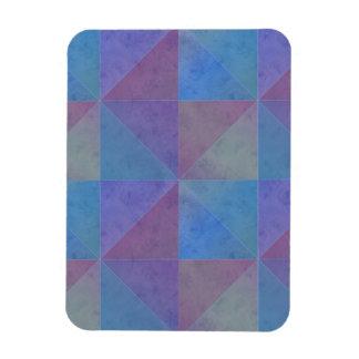 Blue Purple Triangles Geometric Pattern Magnet
