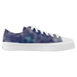 Blue Purple Unique Cool Chic Low Tops
