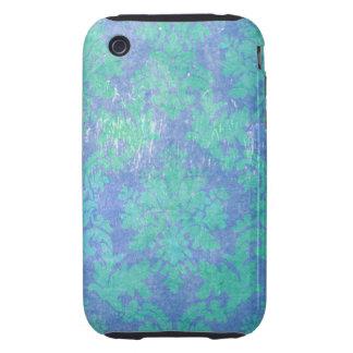 Blue Purple Vintage Damask Tough iPhone 3 Case