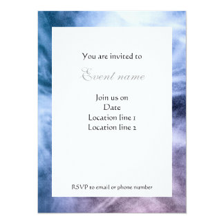 Blue purple white abstract heavenly clouds Invite