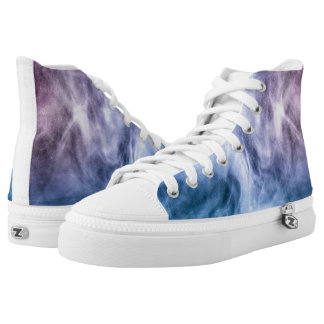 Blue purple white abstract heavenly clouds smoke high tops