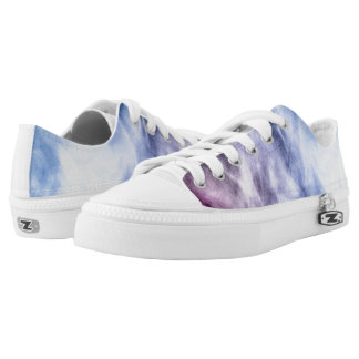 Blue purple white abstract heavenly clouds smoke low tops
