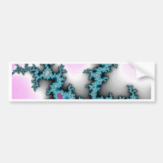 Blue Purple White Abstract Lightening Bumper Sticker