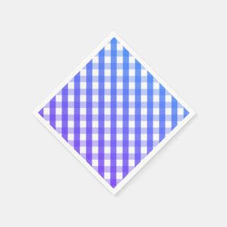 Blue purple white gingham napkins disposable serviette