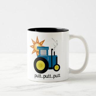 Blue Putt Putt Tractor Coffee Mug