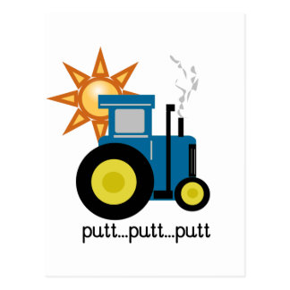 Blue Putt Putt Tractor Tshirts and Gifts Postcard