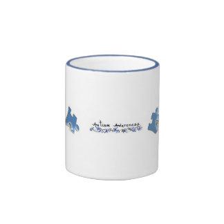 Blue Puzzle Pieces - Autism Awareness Ringer Mug