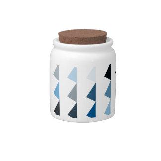 blue pyramid pattern 04 candy jar