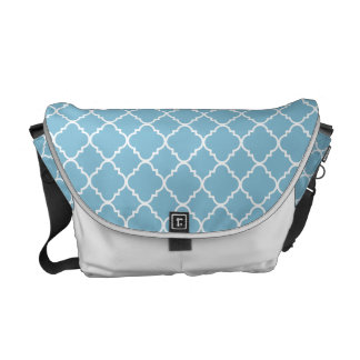Blue Quatrefoil Clover Courier Bag