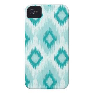 Blue quatrefoil iPhone 4 case