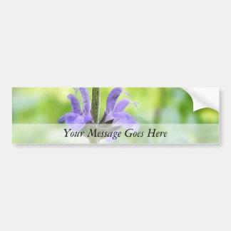 Blue Queen Salvia Flowers Car Bumper Sticker