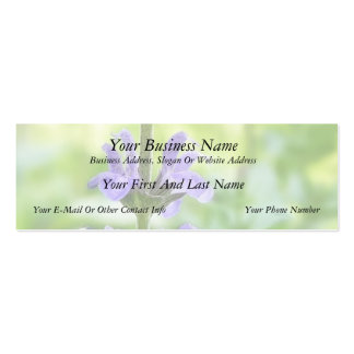 Blue Queen Salvia Flowers Business Cards