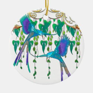 Blue Quetzal Bird Christmas Ornament