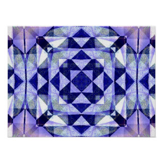 Blue Quilt Abstract Poster