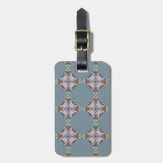 Blue Quilt Block Luggage Tag
