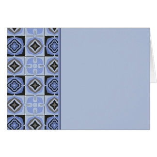 Blue Quilt Border Greeting Card